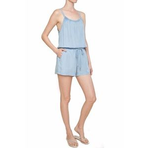 Splendid Double Strap Chambray Romper